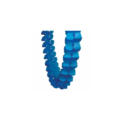 Paper Party Honeycomb Garland True Blue 4m #405215TB - Each (Pkgd.)