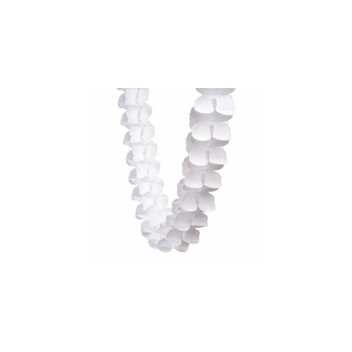 Paper Party Honeycomb Garland White 4m #405215WH - Each (Pkgd.)