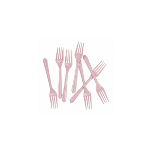 Fork Plastic Classic Pink #406014CPP - 20Pk (Pkgd.)