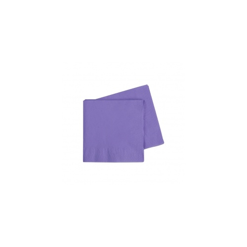 Cocktail Napkin Lilac 250mm #406070LIP - 20Pk (Pkgd.)