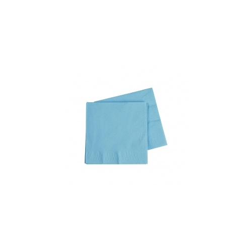 Cocktail Napkin Pastel Blue 250mm #406070PBP - 20Pk (Pkgd.)