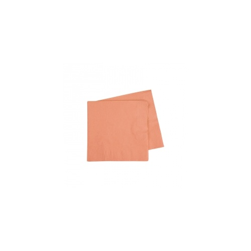 Cocktail Napkin Peach 250mm #406070PCP - 20Pk (Pkgd.)