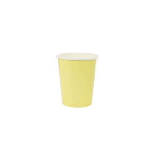 Paper Party Cup Pastel Yellow 260ml #406130PYP - 10Pk (Pkgd.) TEMPORARILY UNAVAILABLE