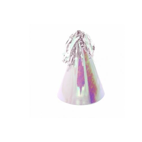 Paper Party Hat with Tassel Topper Iridescent #406150IRP - 10Pk (Pkgd.)