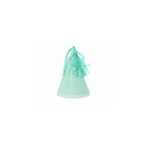 Paper Party Hat with Tassel Topper Mint Green #406150MTP - 10Pk (Pkgd.)