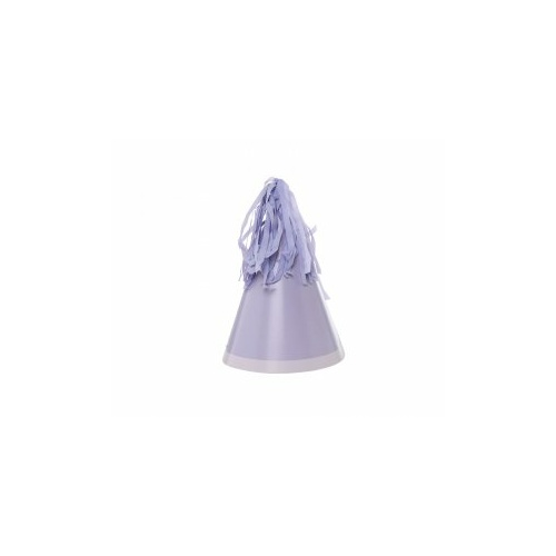 Paper Party Hat with Tassel Topper Pastel Lilac #406150PLIP - 10Pk (Pkgd.)