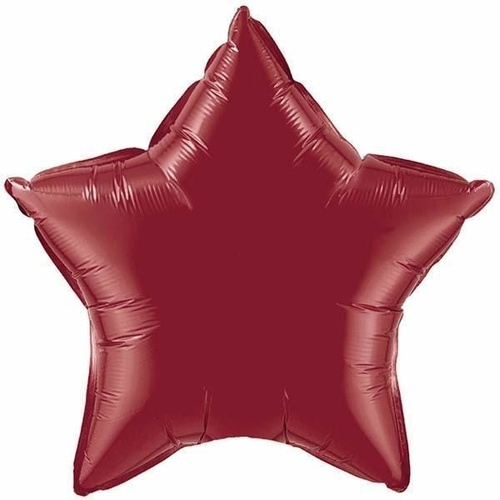 50cm Star Foil Burgundy Plain Foil #41533 - Each (Unpkgd.)