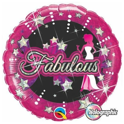 45cm Round Foil Holographic Fabulous Stars #41584 - Each (Pkgd.) SPECIAL ORDER ITEM