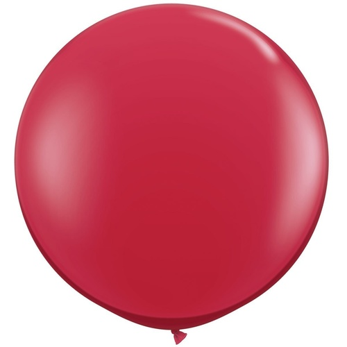 90cm Round Jewel Ruby Red Qualatex Plain Latex #43057 - Pack of 2