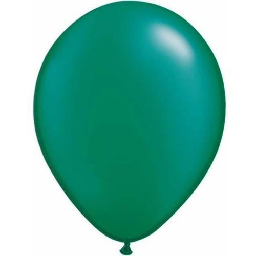 12cm Round Pearl Emerald Qualatex Plain Latex #43581 - Pack of 100
