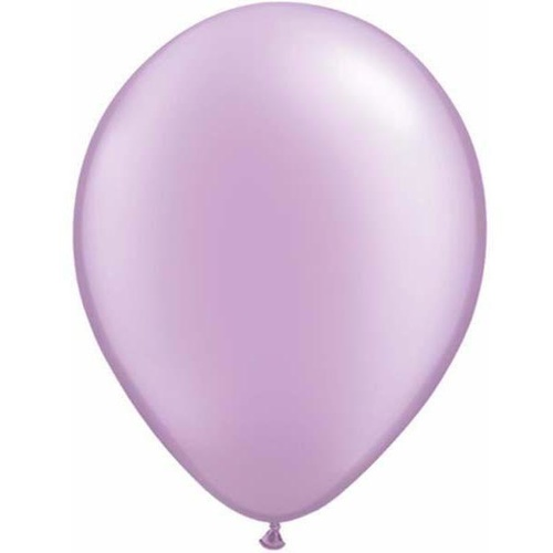 12cm Round Pearl Lavender Qualatex Plain Latex #43587 - Pack of 100