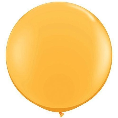 90cm Round Goldenrod Qualatex Plain Latex #43633 - Pack of 2