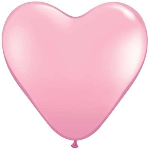 15cm Heart Pink Qualatex Plain Latex #43642 - Pack of 100 TEMPORARILY UNAVAILABLE
