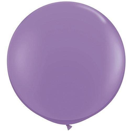 90cm Round Spring Lilac Qualatex Plain Latex #43656 - Pack of 2