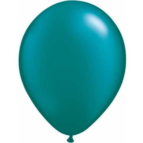 28cm Round Pearl Teal Qualatex Plain Latex #43787 - Pack of 100