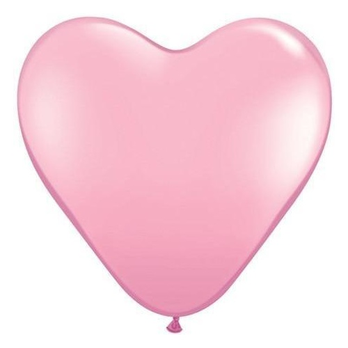 90cm Heart Pink Qualatex Plain Latex #44445 - Pack of 2 SPECIAL ORDER ITEM