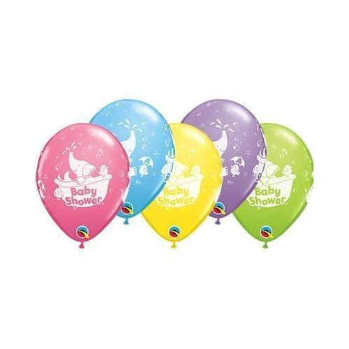 28cm Round Special Assorted Baby Shower Elephant Retail Packaging, Ready to Hang #4671510 - Pack of 10