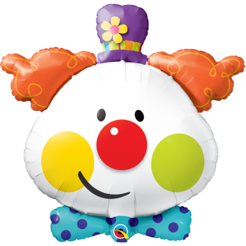 90cm Shape Foil Cute Clown #49403 - Each (Pkgd.)