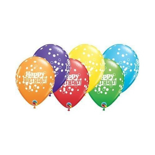 28cm Round Bright Rainbow Assorted Birthday Confetti Dots #49852 - Pack of 50
