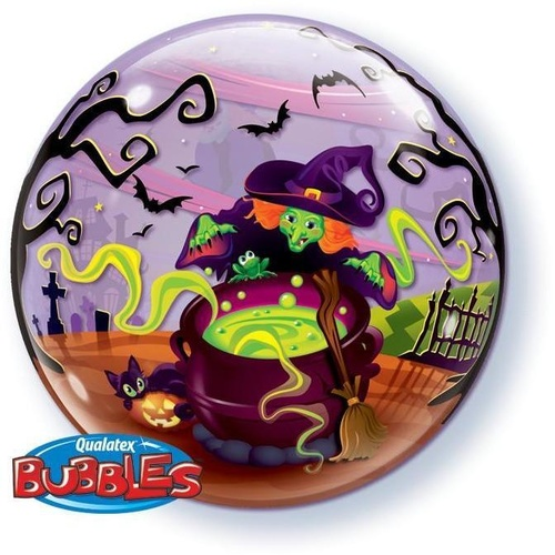 56cm Single Bubble Flying Witch's Spooky Brew #50544 - Each