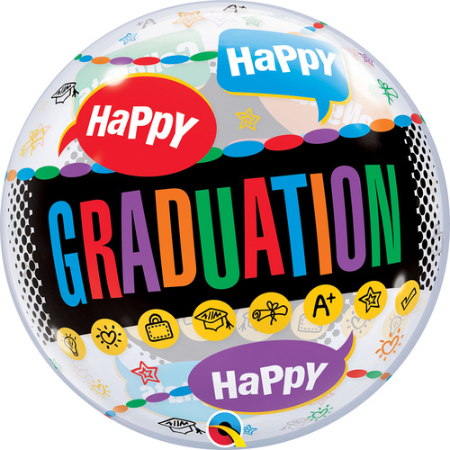 56cm Single Bubble Happy Graduation Congrats Graduate #55800 - Each