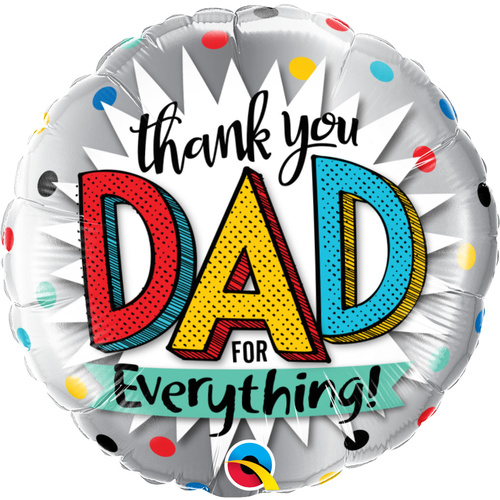 45cm Round Foil Thank You Dad For Everything #55818 - Each (Pkgd.)