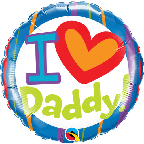 45cm Round Foil I (Heart) Daddy #55821 - Each (Pkgd.)