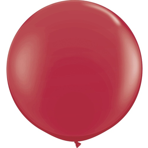 90cm Round Maroon Qualatex Plain Latex #57134 - Pack of 2