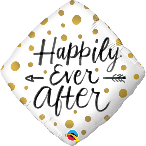 45cm Diamond Foil Happily Ever After Gold Dots #57337 - Each (Pkgd.)