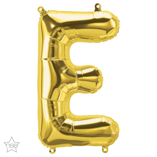 86cm Letter E Gold Foil Balloon #59289 - Each (Pkgd.)