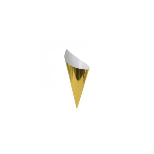Paper Party Snack Cone Metallic Gold #6210MGP - 10Pk