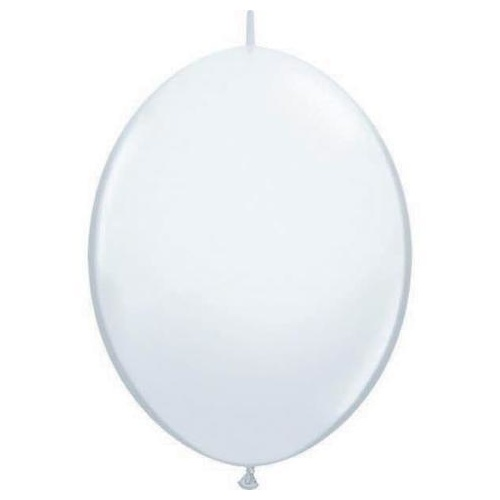 30cm Quick Link White Qualatex Quick Link Balloons #64151 - Pack of 50