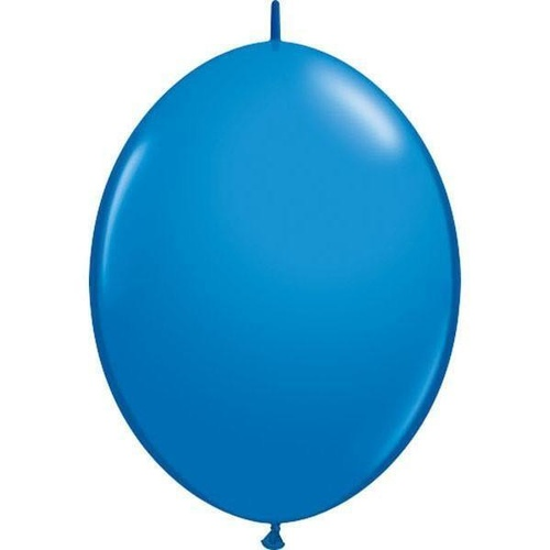 30cm Quick Link Dark Blue Qualatex Quick Link Balloons #65215 - Pack of 50