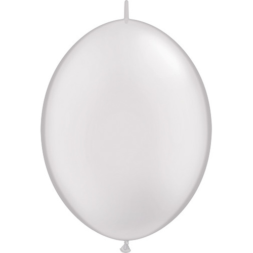 30cm Quick Link Pearl White Qualatex Quick Link Balloons #65246 - Pack of 50