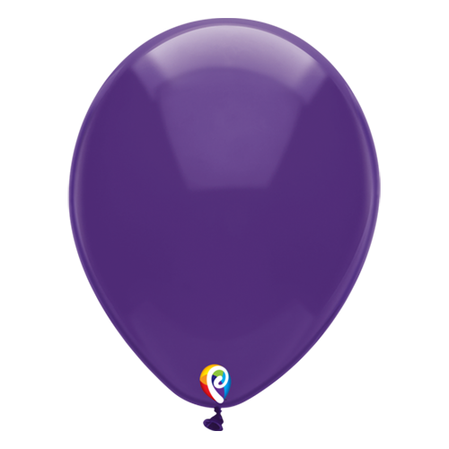 30cm Crystal Purple Funsational Plain Latex Balloons #71614 - Pack of 50