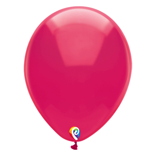 30cm Crystal Fuschsia Funsational Plain Latex Balloons #71652 - Pack of 50