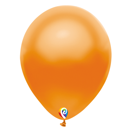30cm Pearl Orange Funsational Plain Latex Balloons #71920 - Pack of 50