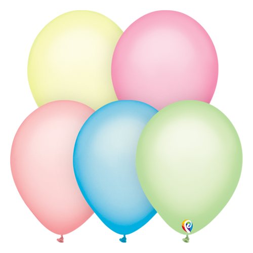 30cm Neon Assorted Funsational Plain Latex Balloons #72181 - Pack of 50