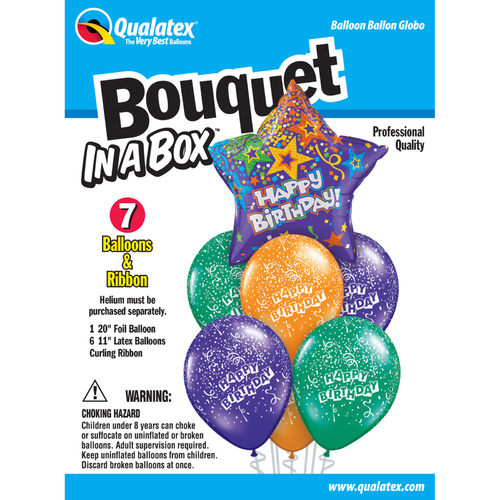 Bouquet in a Box - Birthday Purple Star #75823