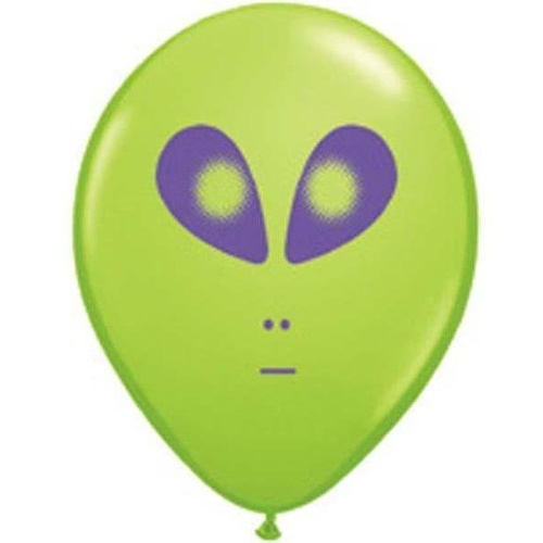 12cm Round Lime Green Space Alien #79711 - Pack of 100