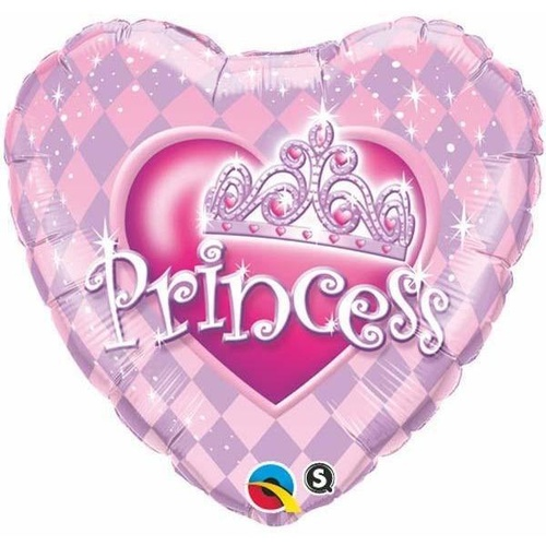 45cm Heart Foil Princess Tiara #82027 - Each (Pkgd.)