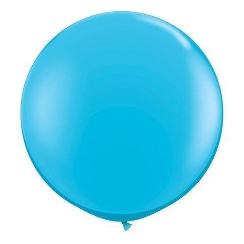 90cm Round Robin's Egg Blue Qualatex Plain Latex #82784 - Pack of 2