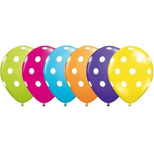 28cm Round Tropical Assorted Big Polka Dots #85066 - Pack of 50