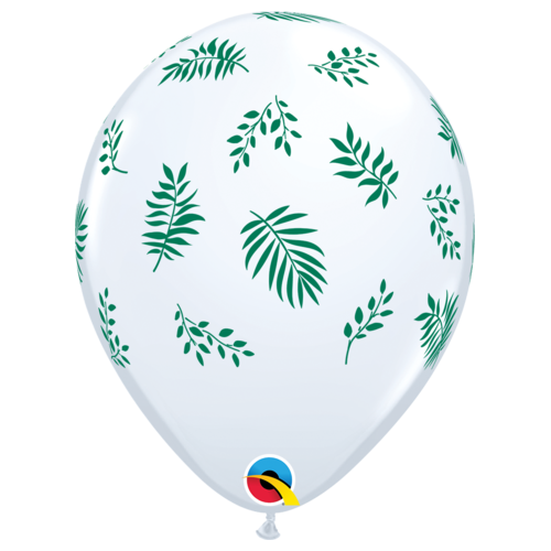 28cm Round White Tropical Greenery #87901 - Pack of 50 TEMPORARILY UNAVAILABLE