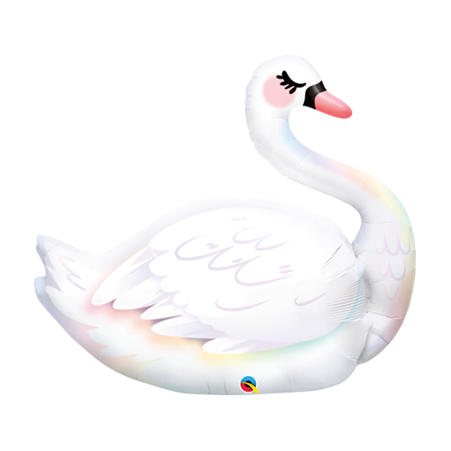 87cm Animal Graceful Swan Shape Foil Balloon #87971 - Each (Pkgd.)