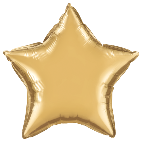 50cm Star Chrome Gold Plain Foil #90058 - Each (Pkgd.)