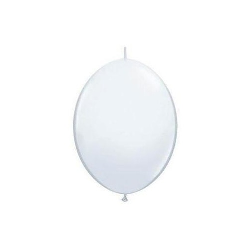 15cm Quick Link White Qualatex Quick Link Balloons #90172 - Pack of 50