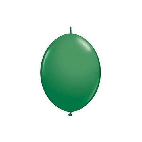15cm Quick Link Green Qualatex Quick Link Balloons #90198 - Pack of 50