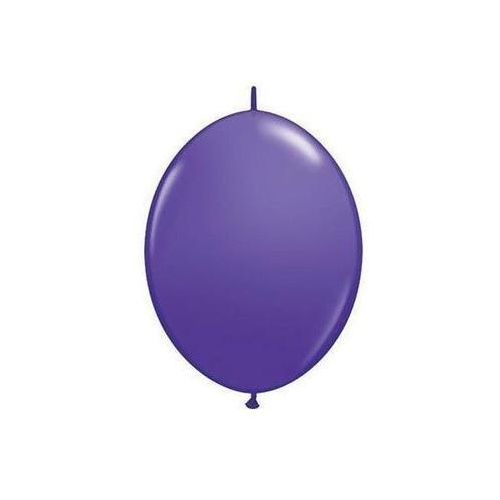 15cm Quick Link Purple Violet Qualatex Quick Link Balloons #90218 - Pack of 50