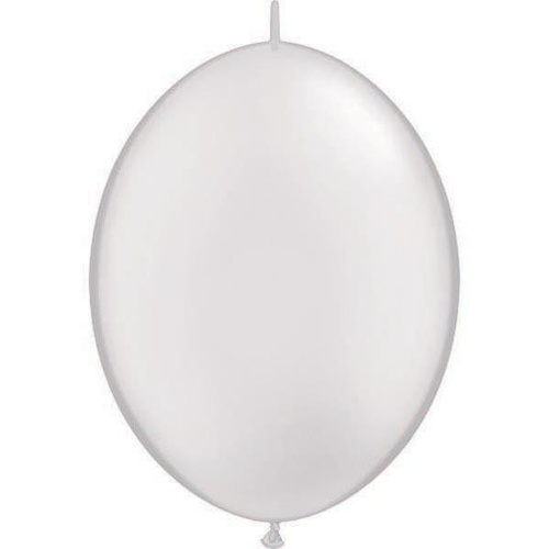 15cm Quick Link Pearl White Qualatex Quick Link Balloons #90268 - Pack of 50 SPECIAL ORDER ITEM